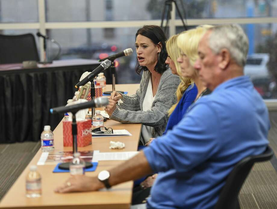 Marcy Askins, sister of Joe Griffiths who was killed during the mass shooting in August, testifies before the Texas House Committee on Mass Violence  Prevention and Community Safety heard testimony Thursday, Nov. 7, 2019 in the Zant Community Room in Odessa College in Odessa. Photo: Jacy Lewis/Reporter-Telegram