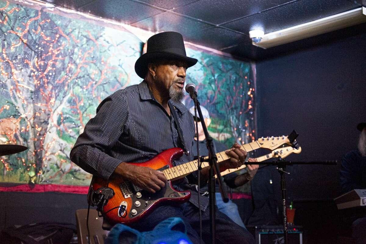 Earl Stevens, Sr. hosts a blues jam at Kesler's Cocktail Lounge in Vallejo, Calif. on Wednesday, Nov. 6, 2019