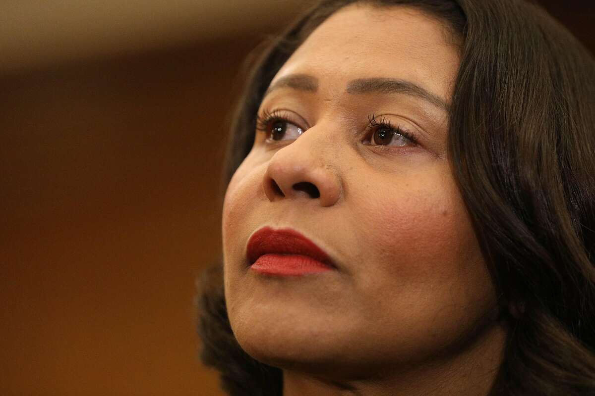 Mayor London Breed during a press conference in the Mayor's Office at City Hall on Monday, April 29, 2019 in San Francisco, Calif.