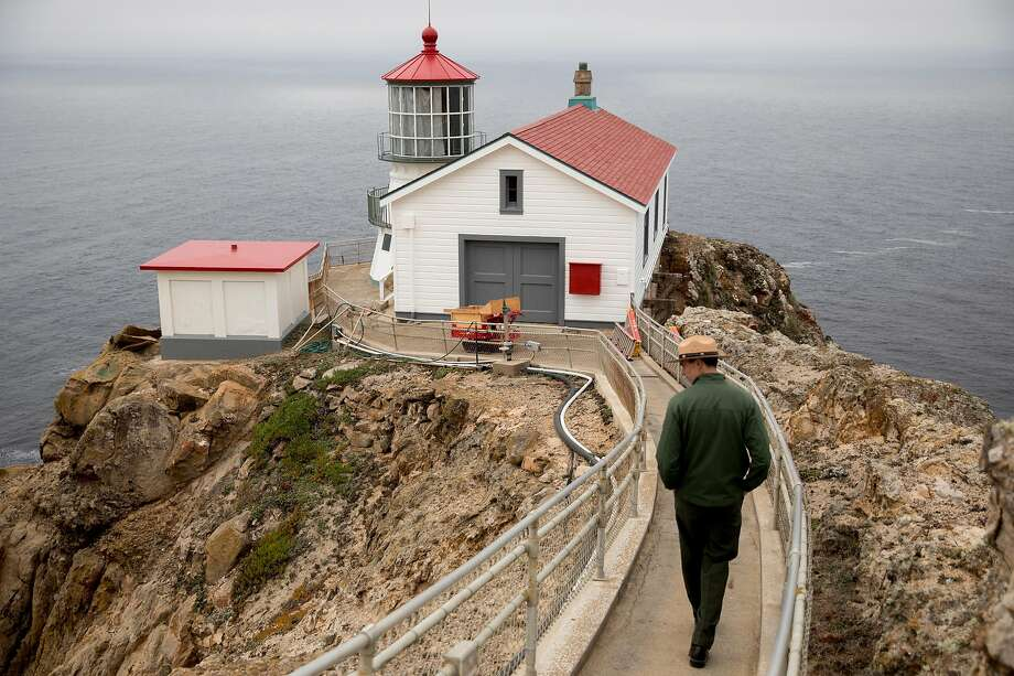 Point Reyes National Seashore Chief of Cultural Resources Paul Engel walks down the staircase to the newly restored Point Reyes Lighthouse in Point Reyes, Calif. Wednesday, Nov. 6, 2019. Photo: Jessica Christian, The Chronicle
