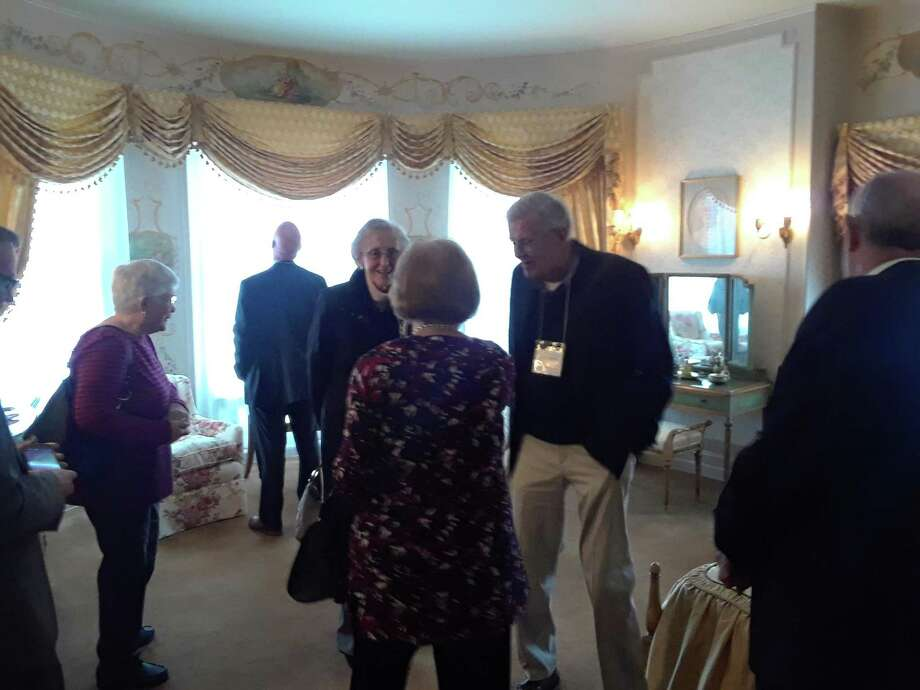 The Torrington Historical Society staff, board members and guests celebrated the completion of the master bedroom in the Gertrude Hotchkiss-Fyler House, with tours and a reception on Thursday. Photo: Emily M. Olson / Hearst Connecticut Media
