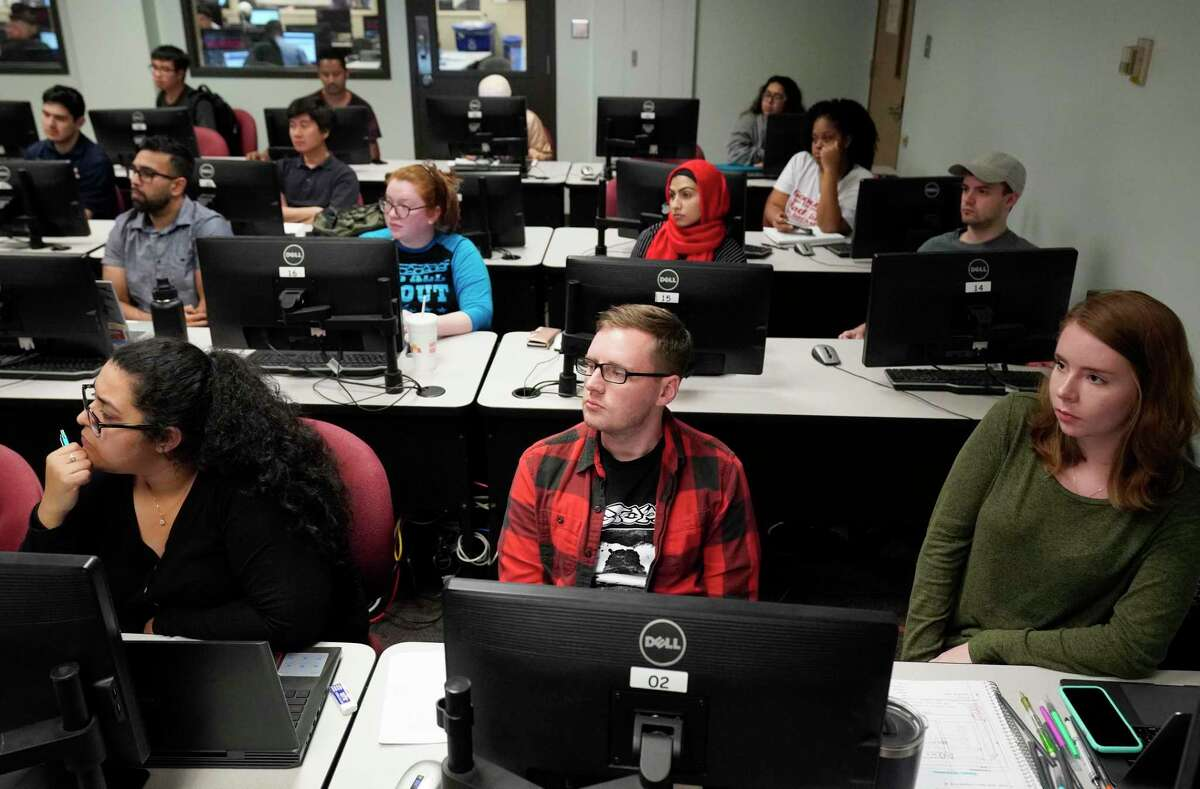 Classes like this one at the University of Houston, taken in October 2019, will look very different this fall.