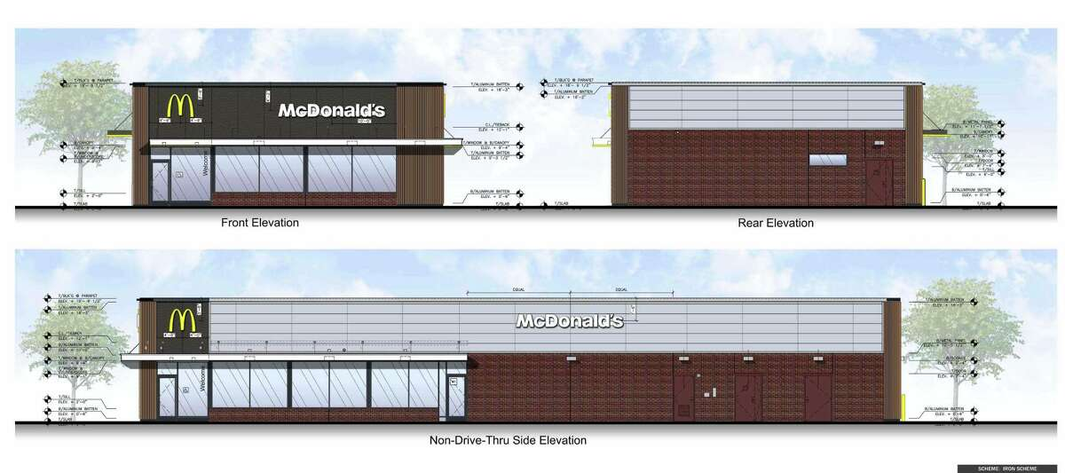 McDonald's plans to demolish its existing restaurant at 439 Bridgeport Avenue, and replace it with a smaller building having two drive-thru lanes.