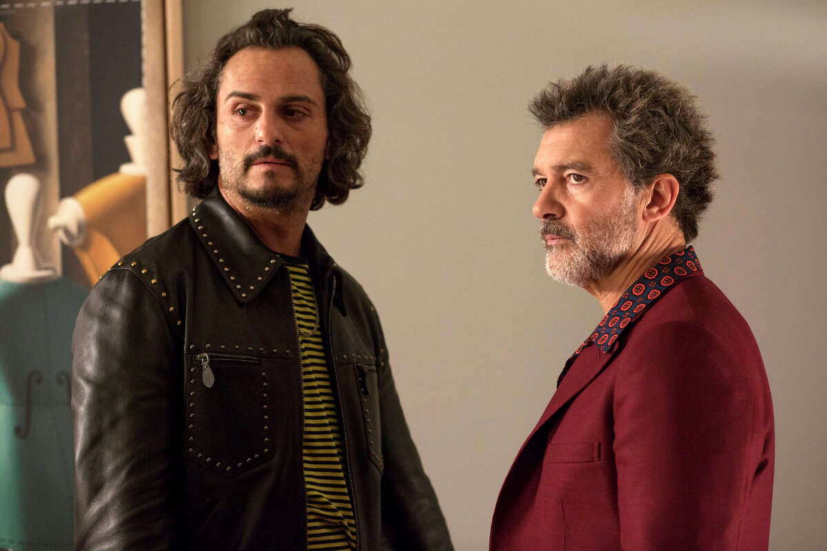 This image released by Sony Pictures Classics shows Asier EtxeandA-a, left, and Antonio Banderas in a scene from