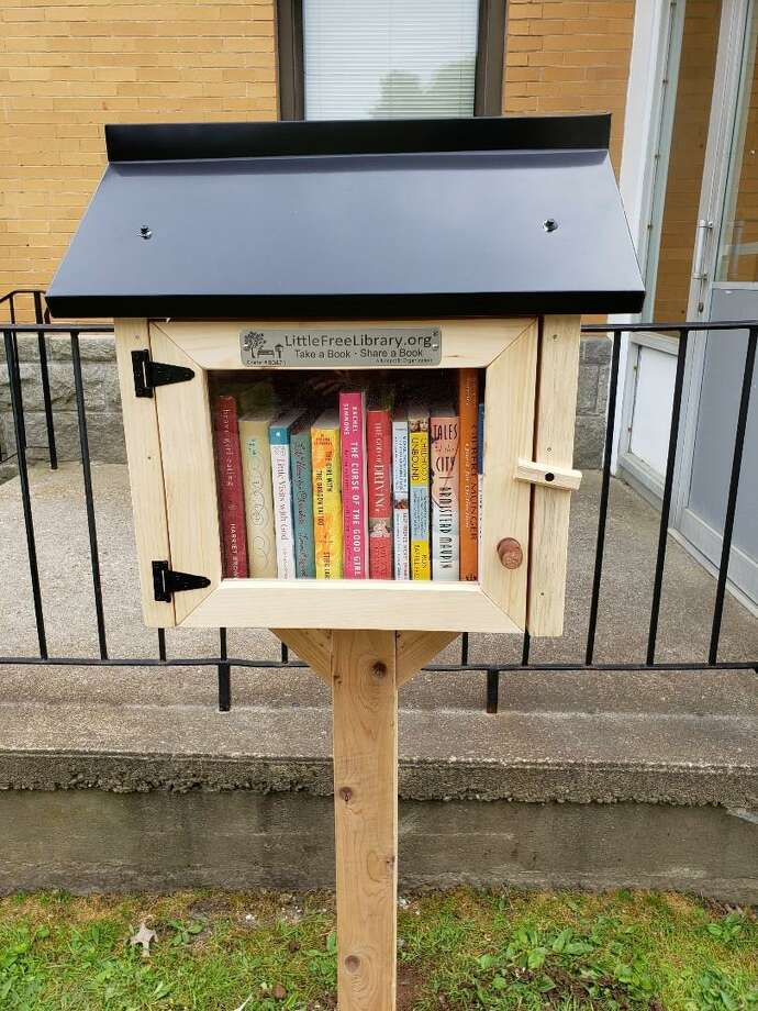 """FILE PHOTO: This image shows one of Torrington's Little Free Libraries. This pictured """"little library"""" was not the one damaged by the storm in Milford. Photo: Contributed Photo"""