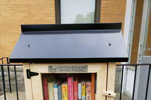"FILE PHOTO: This image shows one of Torrington's Little Free Libraries. This pictured ""little library"" was not the one damaged by the storm in Milford."