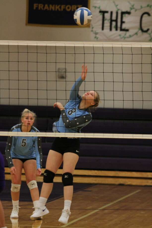 Brethren volleyball fell in three sets to Leland in a Division 4 district final. Photo: Dylan Savela/News Advocate