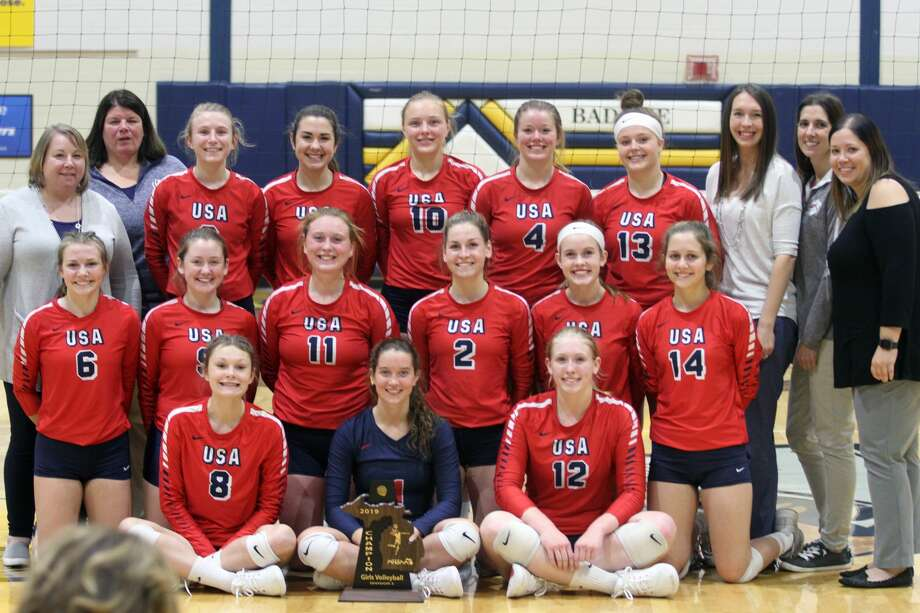 The USA Patriots claimed the District championship with a sweep over Cass City on Thursday, Nov. 7. Photo: Eric Rutter / Huron Daily Tribune