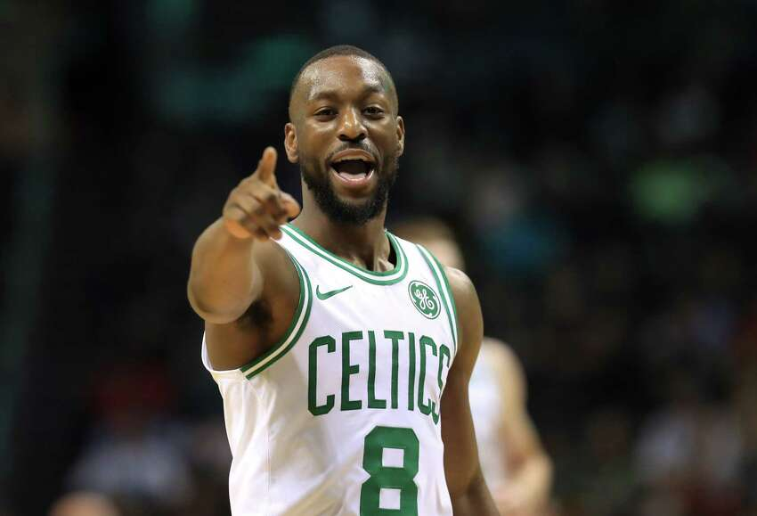 CHARLOTTE, NORTH CAROLINA - NOVEMBER 07: Kemba Walker #8 of the Boston Celtics reacts after a play against the Charlotte Hornets during their game at Spectrum Center on November 07, 2019 in Charlotte, North Carolina. NOTE TO USER: User expressly acknowledges and agrees that, by downloading and or using this photograph, User is consenting to the terms and conditions of the Getty Images License Agreement. (Photo by Streeter Lecka/Getty Images)