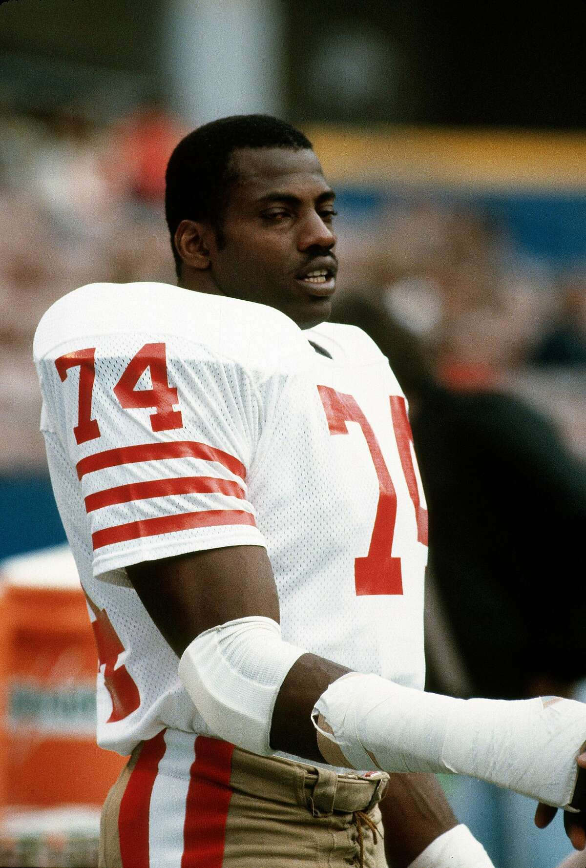 According to a former teammate, former 49er great Fred Dean is hospitalized after being diagnosed with coronavirus.