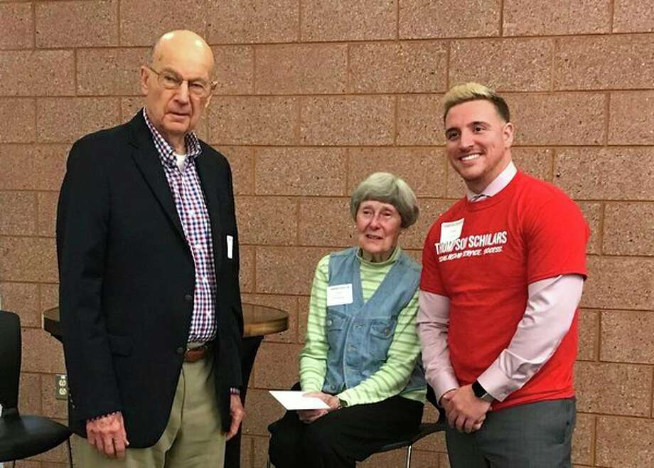 Robert and Ellen Thompson pose with Chaz Fowler. (Photo provided/Chaz Fowler)