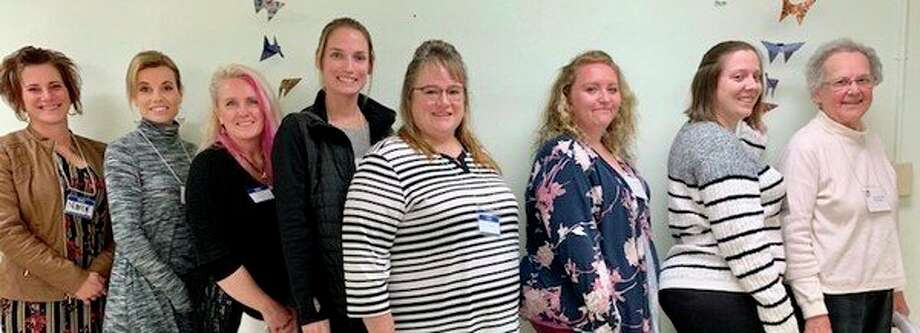 Pictured are Marcy Jacques, Melanie Dunn, Christine Berke, Lauren Greenwell, Diana Bitler, Samantha Wright, Tara Batdorf and Jeanette Fleury. Not pictured is Denise Hiestand. (Courtesy photo)