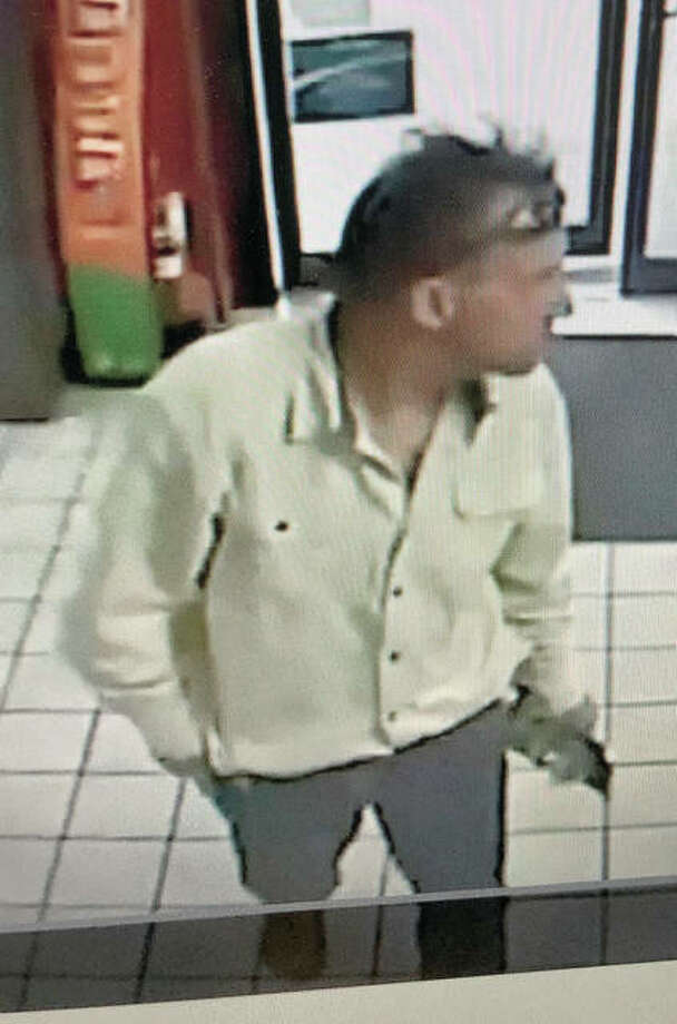 Pike County Sheriff's Department is seeking information on a man wanted for questioning about an Oct. 16 armed robbery at a gas station in Barry. Lottery tickets taken from the station have been scanned in Grafton, Brussels and other locations in west-central Illinois.