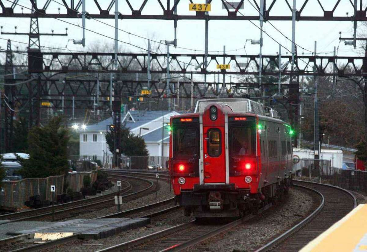 Metro-North's New Haven line has delays up to 10 minutes on Friday, Nov. 7, 2019 because of slippery leaves on the train tracks. Rain and strong winds Thursday night brought down many leaves across the Northeast.