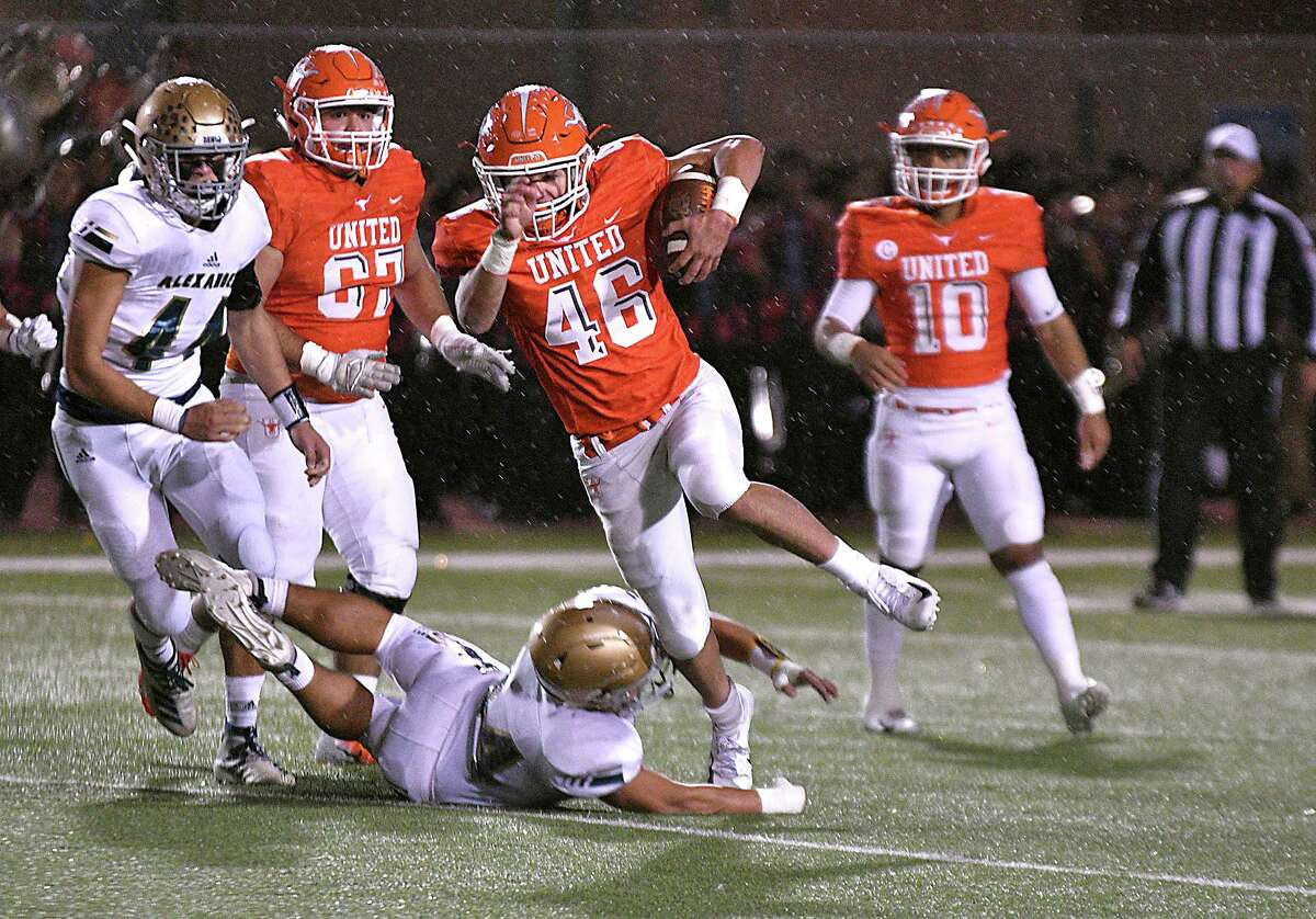 Eric Heard rushed for 207 yards and two touchdowns in the regular-season finale against Alexander in his junior season at United.
