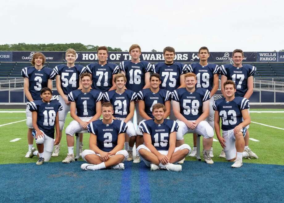 The Wilton High football team's seniors will be recognized at Saturday's Senior Day game against Stamford. The contest, which starts at 2 p.m., is also part of Wilton's homecoming weekend. Front row (left to right): Captain Drew Phillips, Captain Kyle Hyzy; middle row: Brian Castaneda, Dominic Caratozzolo, Tucker Walden, Dominick Polito, Griffin Morris, Jack DiRocco; top row: Artie DiRocco, Steven Tuin, Jack Savarese, Reilly Sullivan, Stephen Kendra, Jack Santomero, Jimmy O'Brien. Photo: Gretchen McMahon / For Hearst Connecticut Media