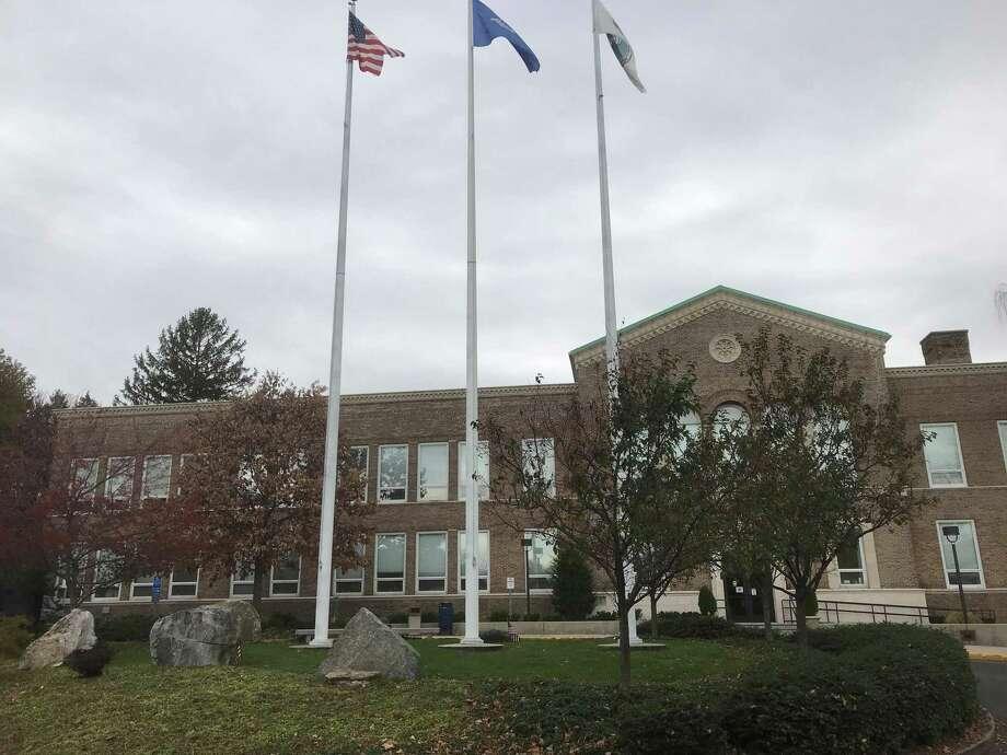The Veterans Circle at Town Hall. Photo: Susan Shultz/Hearst Connecticut Media