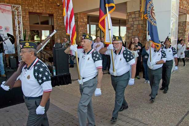 In 2017, an American Legion color guard honored the late Stewart Adair, the manager of the Walmart in Helotes, who helped Toyota of Boerne owner Vic Vaughan get the dealership's Turkeys for Troops giveaway off the ground. Five hundred birds were handed out the first year. This year's event will give out 6,500 turkeys.