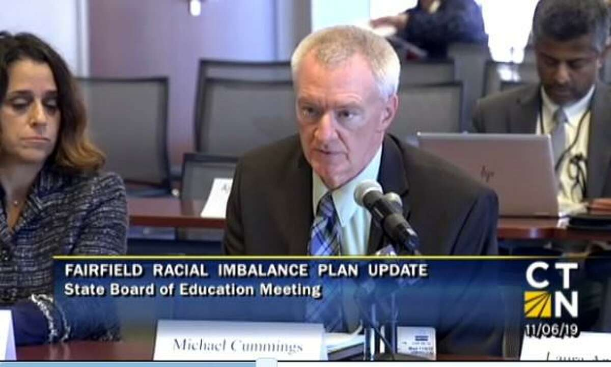 Superintendent Mike Cummings and Board of Education Chair Christine Vitale addressed state officials Wednesday.