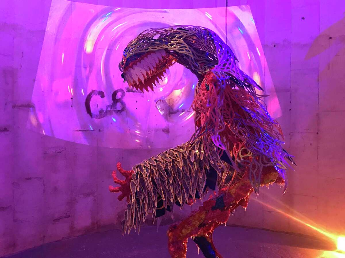 """Patrick Turk's """"Shapeshifter"""" was among the highlights of """"Outta Space 2019,"""" this year's Sculpture Month Houston show at SITE Gallery in the Silos at Sawyer Yards."""