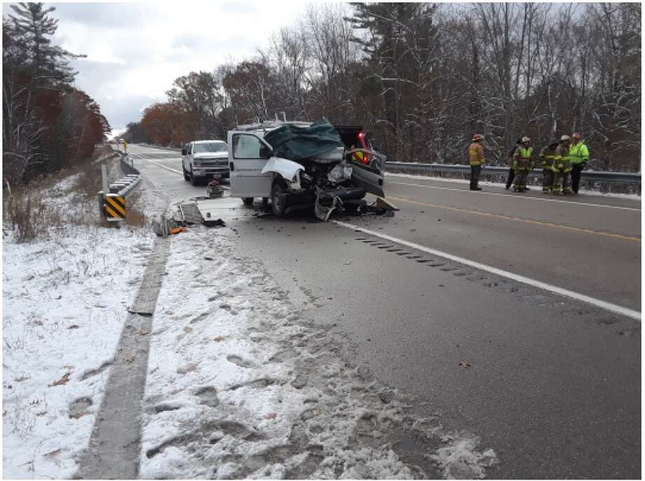 A 43-year-old LeRoy man was killed Thursday after rear-ending a semi tractor trailer on M-115 near 13 Mile Road in Middle Branch Township. Photo: Photo Courtesy Of Osceola County Sheriff's Office
