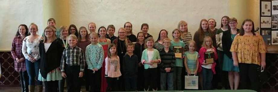 Pictured is the 4-H Youth Group, (front row) Ava Morell, Benjamin Bowman, Emily Messing, Lainey Miller, Thomas Miller, Kynzie Morell, Konner Zimmer, Megan Messing, Vienna Forrester, Abbygail Plester and Jayden Coules; (back row) Ellexia Puvalowski, Lindsey Learman, Milan Forrester, Carter Kosinski, Elianah Shupe, Lillian VerEllen, Sara Schadd, Pearl Daskam, Natalie Phillips, Wesley Kosinski, Annie Bowman, Alyssia Gucwa, Ava LeGault, Olivia Martens, Catrina Jordan, Brooke Depcinski, Dori Battel, Krista Geiger, Stephanie Stone and Addy Battel. (Submitted Photo)