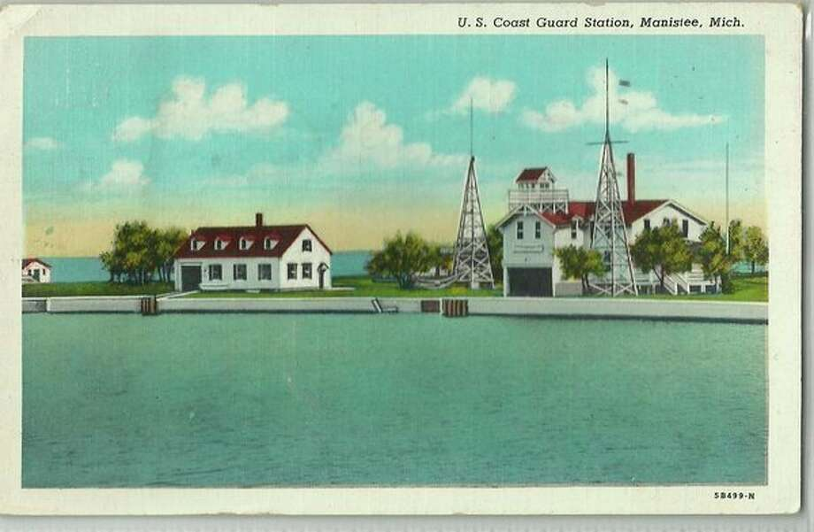 This photo shows what the united States Coast Guard Station in Manistee looked like in the early 1960s.