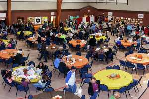 The 9th annual Katy Community Thanksgiving Feast will be held atKaty's First Baptist Church (KFBC) located at 600 Pin Oak Road in Katy. Above is a scene from last year's Thanksgiving Feast hosted by Katy First United Methodist Church.