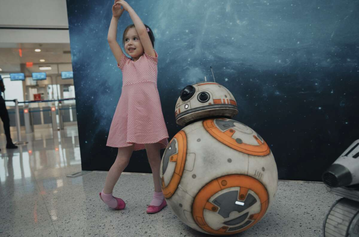 United Airlines partnership to promote the release of Star Wars: The Rise of Skywalker, includes an event a Houston Intercontinental Airport, a special plane and other activities