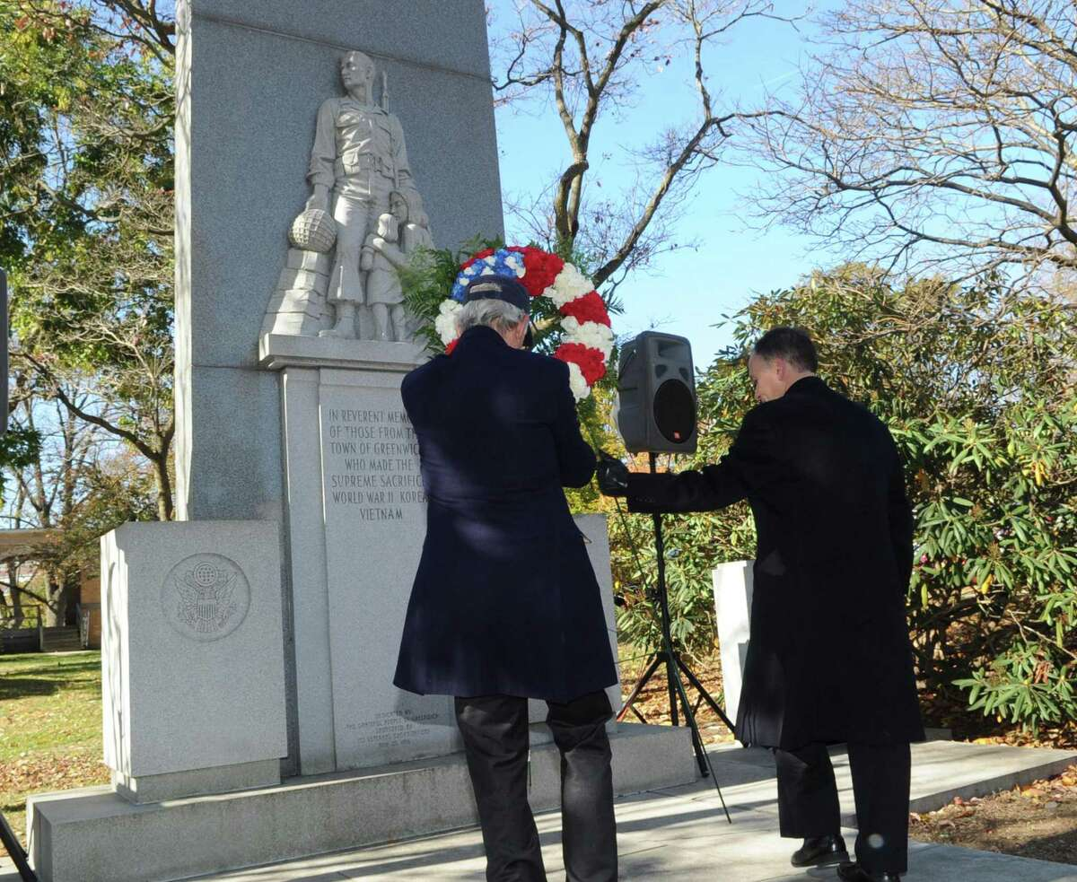 The town's annual Veterans Day ceremony kicks off at 10:30 a.m. Monday, with a parade of veterans, their families and supporters on Greenwich Avenue and culminating with a ceremony at the World War I memorial on Greenwich Avenue.
