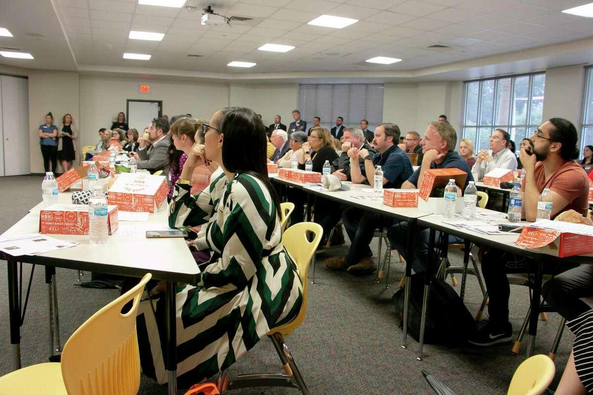 Business leaders, non-profit representatives and Humble ISD members gathered at the last Atascocita BizCom meeting of the year held at Atascocita High School on Thursday, Nov. 7.