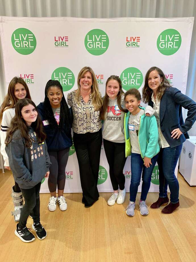 At a recent LiveGirl event keynote speaker Amy Rochlin, founder Rochlin Leadership Consulting, led the girls through a personal vision board activity. Photo: Contributed Photo