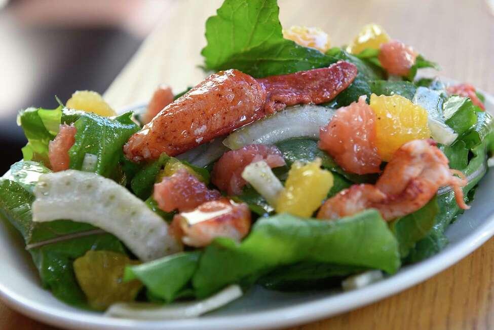 Lobster salad, fennel, arugula, citrus segments, lemon vinaigrette at Malcolm's on Wednesday, Oct. 23, 2019 in Schenectady, N.Y. (Lori Van Buren/Times Union)