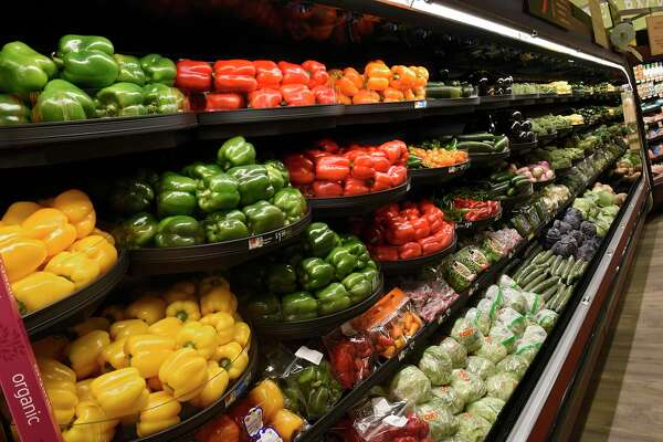 Produce department of the new Hannaford Supermarket at 3 Via Rossi Way on Friday, Nov. 8, 2019 in Ballston Spa, N.Y. The store will open tomorrow. (Lori Van Buren/Times Union)