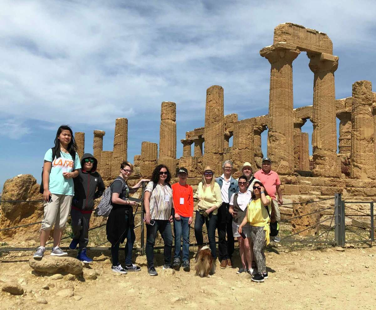 Torrington middle and high school students took a trip to Agrigento, Sicily, earlier this year with the Connecticut Fine Arts Academy. Along with a performance their original play,
