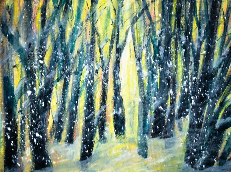 "The Ten-2-One artists are holding a holiday show at their gallery in Thomaston, opening Nov. 14. Pictured is Winter Morning,"" an acrylic painting by Pat Piscopo. Photo: Contributed Photo"