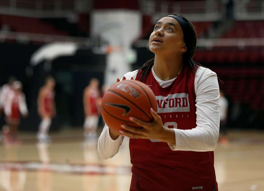 Haley Jones and the Stanford women play USF on Saturday (3 p.m.) at Chase Center. Photo: Paul Chinn /