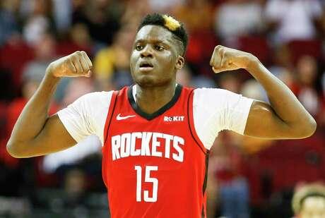 Rockets center Clint Capela is averaging a career-high 14.7 rebounds per game this season.