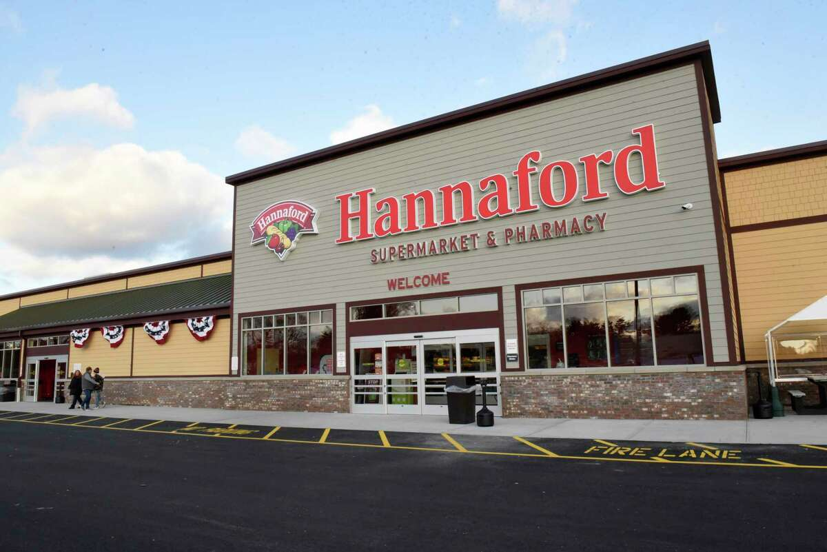 Exterior view of the new Hannaford Supermarket at 3 Via Rossi Way on Friday, Nov. 8, 2019 in Ballston Spa, N.Y.