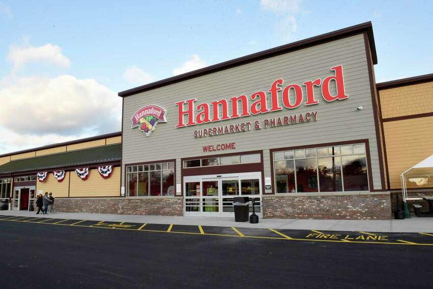 Exterior view of the new Hannaford Supermarket at 3 Via Rossi Way on Friday, Nov. 8, 2019 in Ballston Spa, N.Y. The store will open tomorrow. (Lori Van Buren/Times Union)