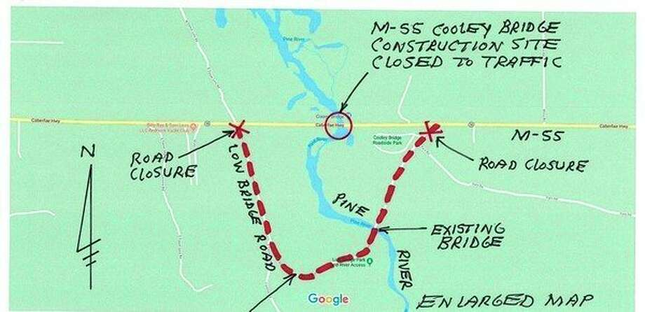 Many people have been using Low Bridge road as a way to avoid the M-55 Cooley Bridge detour. That is a seasonal road and was officially closed for the season on Nov. 6. (Courtesy photo)
