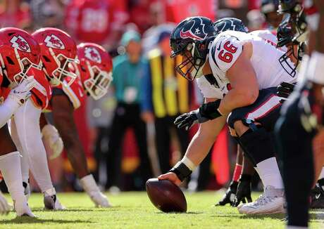 Center Nick Martin and the Texans offensive line have grown together into an improved unit so far.
