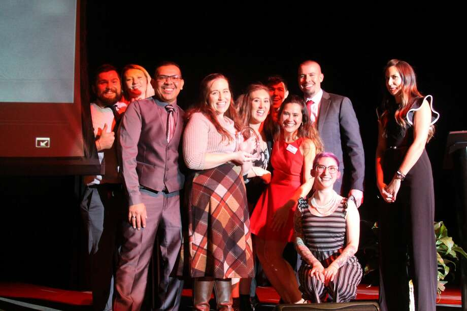About 400 people attended the Manistee Area Chamber of Commerce's annual meeting and business awards dinner on Thursday at the Little River Casino and Resort. The event also included the Manistee Jaycees community awards. Photo: Michelle Graves Managing Editor