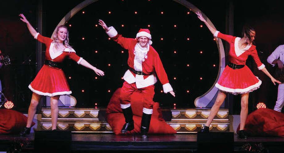 Showboat Branson Belle performers do a Christmas number during a recent cruise. While family attractions are becoming more popular live music shows remain a mainstay of the Branson tourism scene.