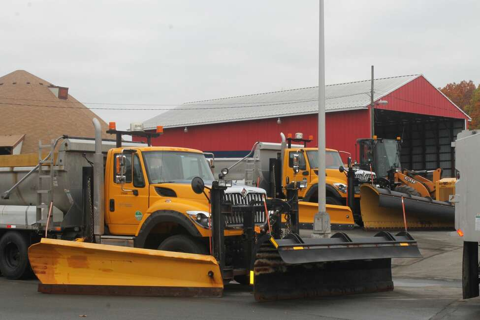 A snow plow with secondary blades can more easily plow contoured roads.