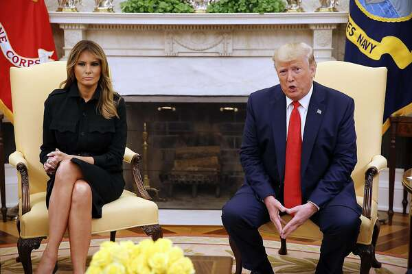 President Donald J. Trump and first lady Melania Trump meet in the Oval Office of the White House to take part in a discussion on the health hazards of vaping, on September 11, 2019, in Washington, D.C. (Martin H. Simon/Sipa USA/TNS)