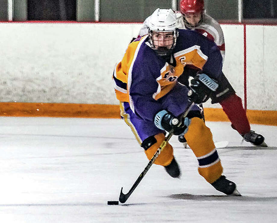 Bethalto's Nolan Kahl returns for his senior Mississippi Valley Club Hockey Association season after scoring 53 goals and dding 18 assists last season. Photo: Telegraph Photo