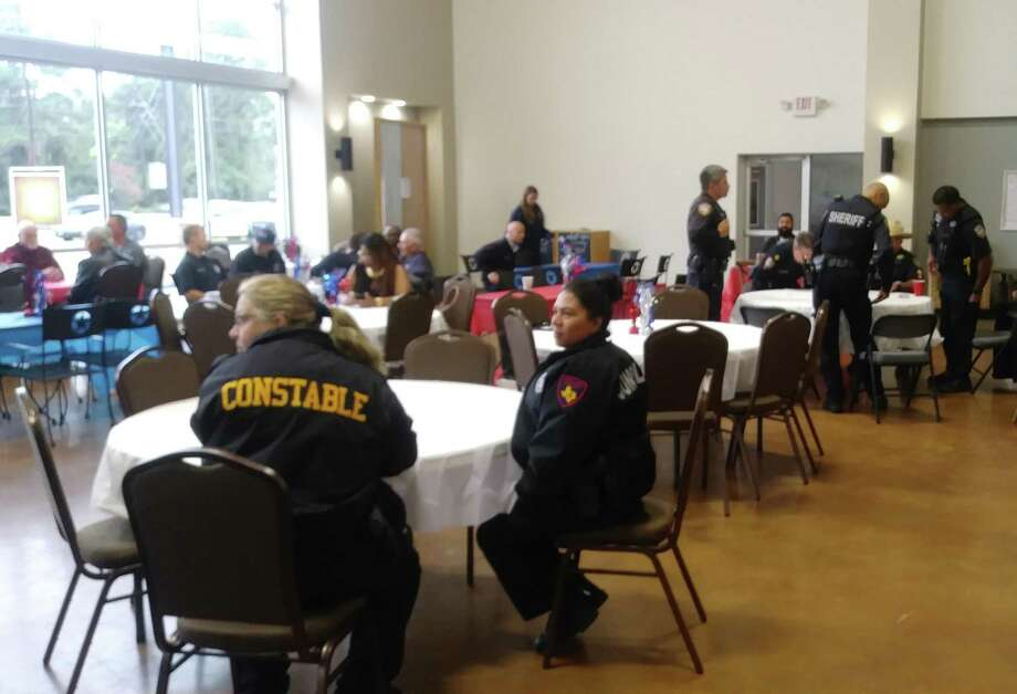 Raffle prizes, gifts and food were offered for attendees during the4th Annual Military and First Responders Luncheon, dedicated to both groups. Photo: Chevall Pryce