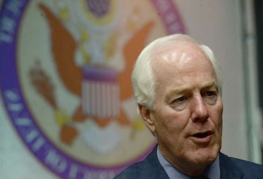 Sen. John Cornyn spoke on the impeachment inquiry during a visit to Beaumont on Friday. Photo: Kim Brent / The Enterprise
