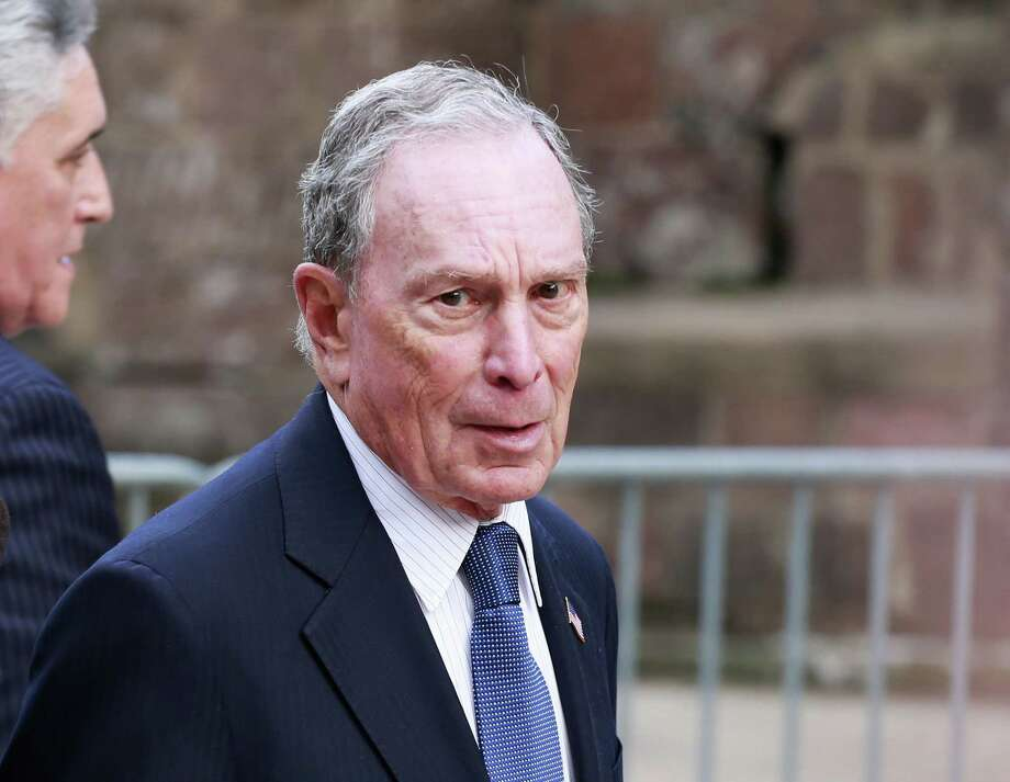 (FILES) In this file photo taken on May 15, 2019 Michael Bloomberg arrives to the opening celebration of the Statue of Liberty Museum on Liberty Island at the Statue Cruises Terminal in Battery Park in New York. - Billionaire businessman Michael Bloomberg was positioning himself Friday to enter the crowded race for the Democratic presidential nomination, setting up a potential showdown with fellow septuagenarian Joe Biden as the leading centrist candidate. (Photo by KENA BETANCUR / AFP) (Photo by KENA BETANCUR/AFP via Getty Images) Photo: KENA BETANCUR / AFP or licensors